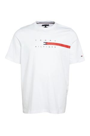 +size T-shirt Plus Size met logo wit