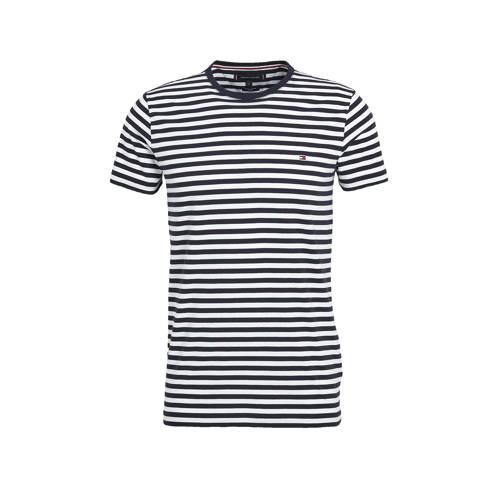 Tommy Hilfiger T-shirt met biologisch katoen wit/donkerblauw