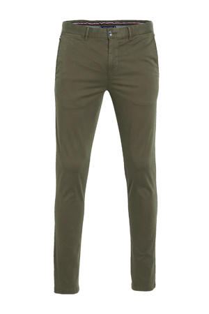 slim fit chino Bleecker TH Flexatin olijfgroen