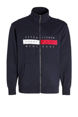 vest Plus Size met logo donkerblauw