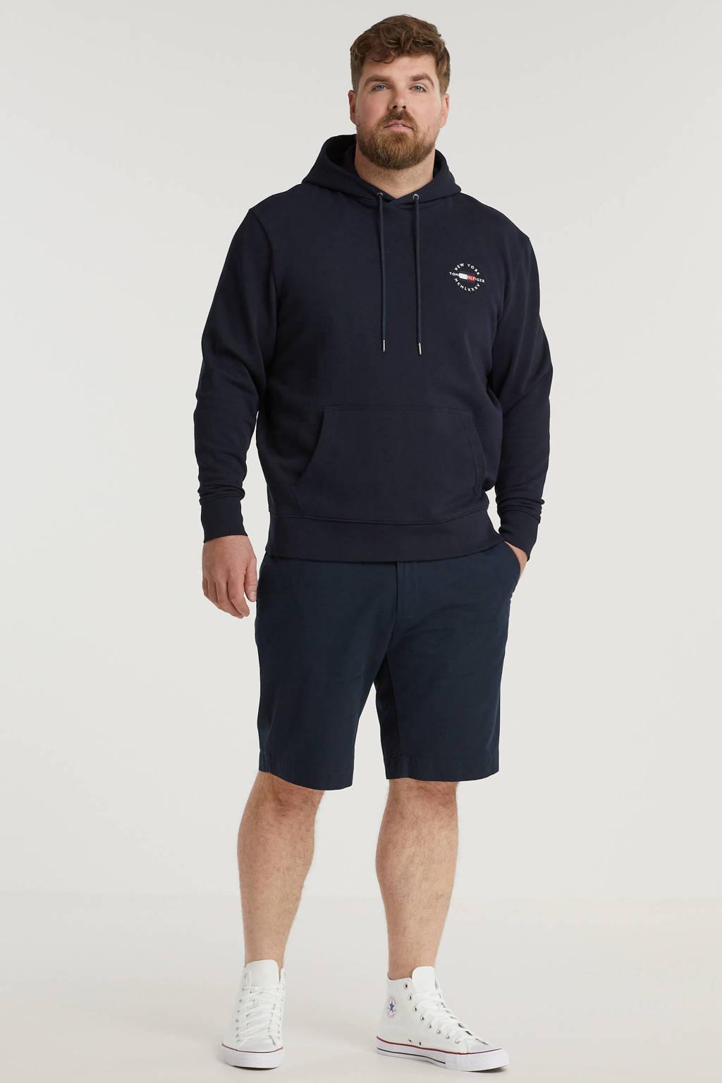 Tommy Hilfiger Big & Tall +size hoodie Plus Size van biologisch katoen donkerblauw, Donkerblauw