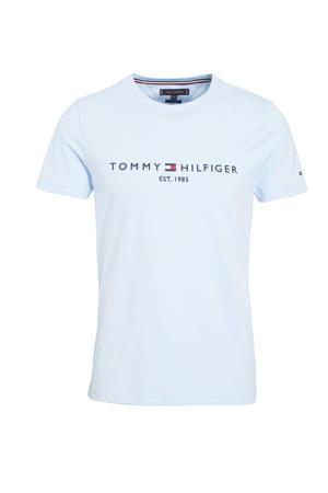 T-shirt van biologisch katoen lichtblauw
