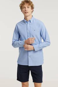 Tommy Hilfiger regular fit overhemd van biologisch katoen lichtblauw, Lichtblauw