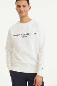 Tommy Hilfiger sweater met logo wit, Wit