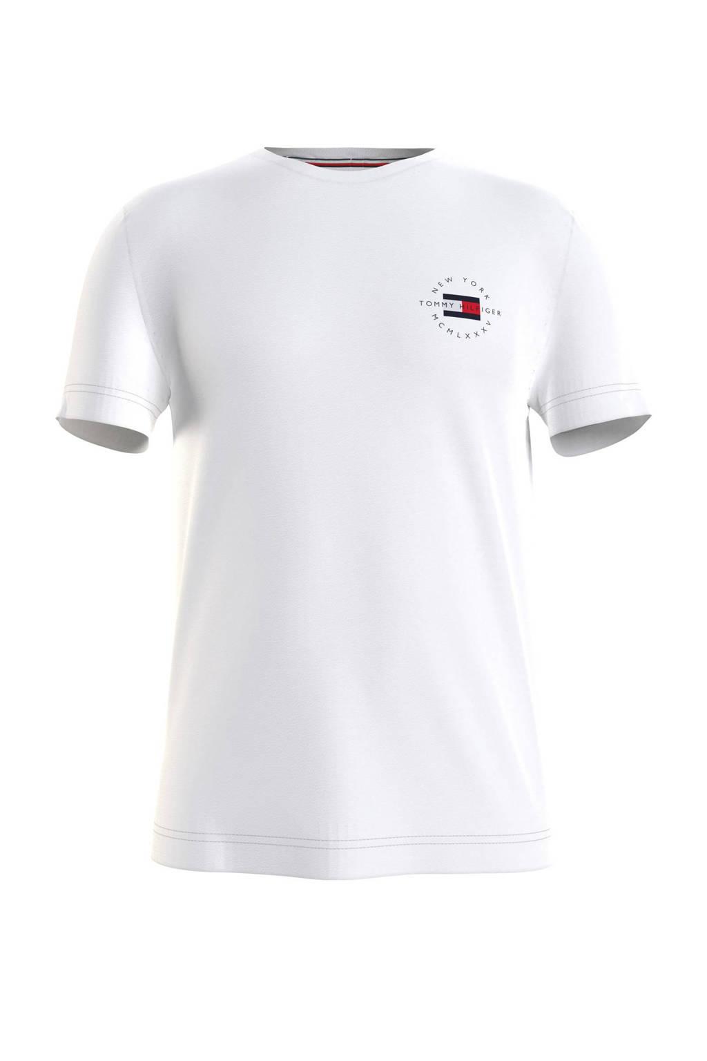 Tommy Hilfiger T-shirt van biologisch katoen wit, Wit