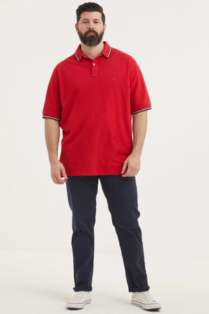 regular fit polo met logo Plus Size rood