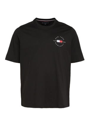+size T-shirt Plus Size van biologisch katoen zwart