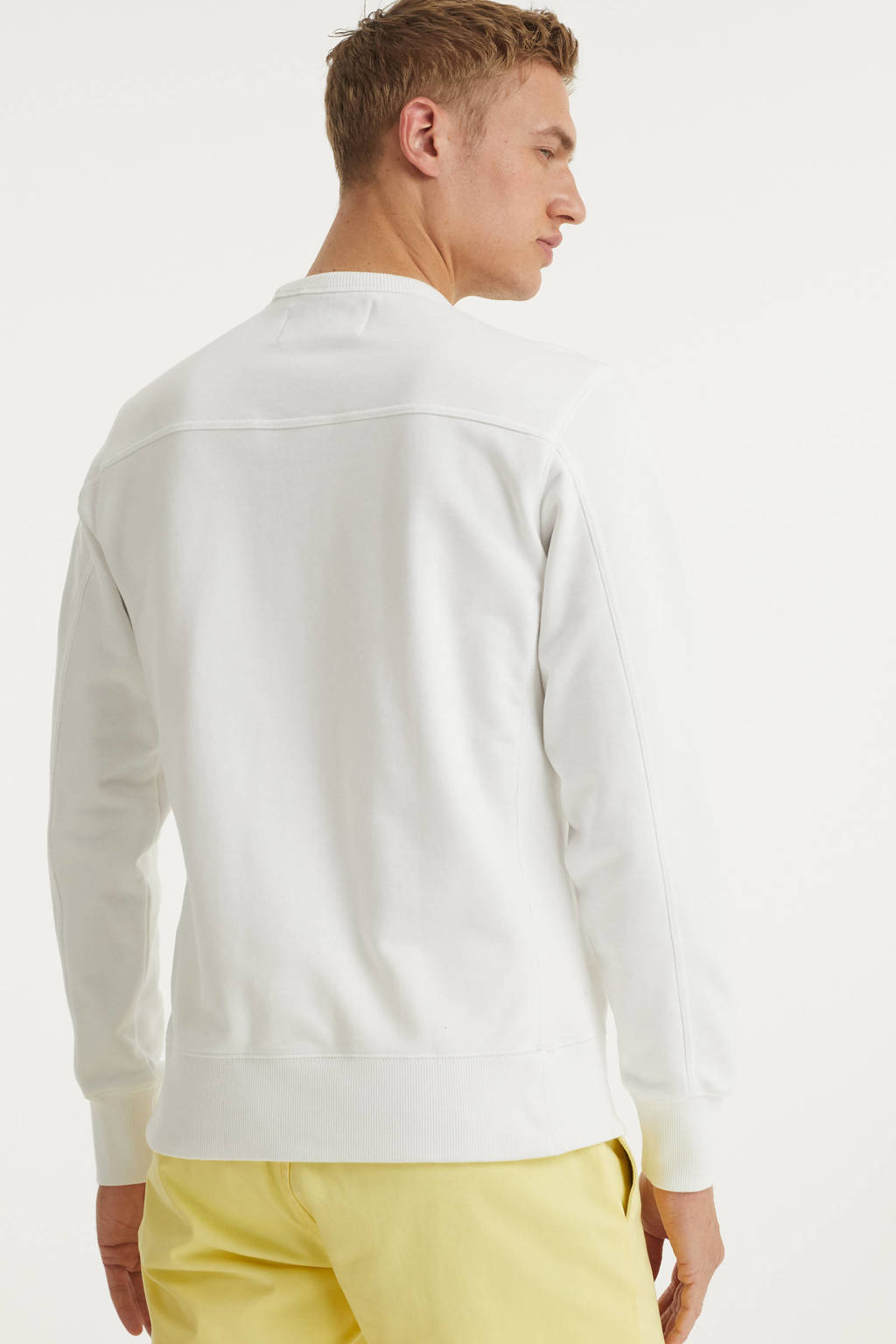 CALVIN KLEIN JEANS sweater met logo wit, Wit