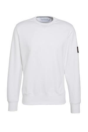 sweater met logo wit