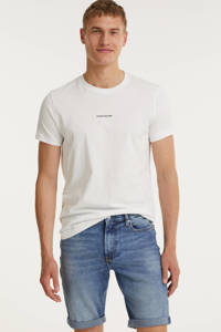 CALVIN KLEIN JEANS slim fit jeans short denim light