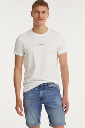 slim fit jeans short denim light