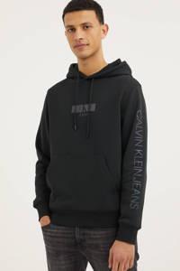 CALVIN KLEIN JEANS hoodie van biologisch katoen zwart, Zwart