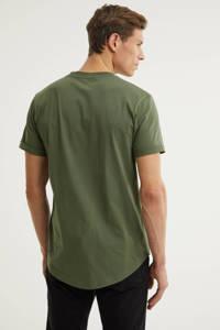 CALVIN KLEIN JEANS T-shirt van biologisch katoen groen, Groen