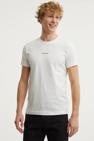 basic T-shirt van biologisch katoen wit