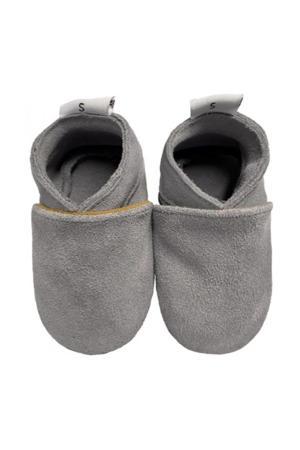 suède babyslofjes grijs
