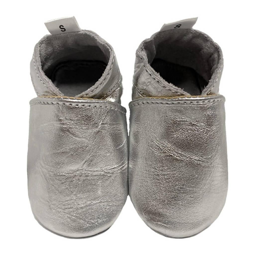 Babysteps leren babyslofjes zilver, Zilver