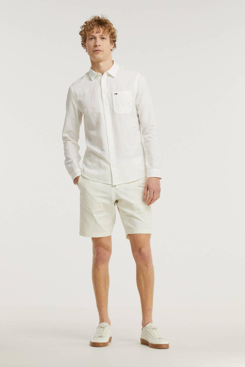 Tommy Jeans regular fit overhemd wit, Wit