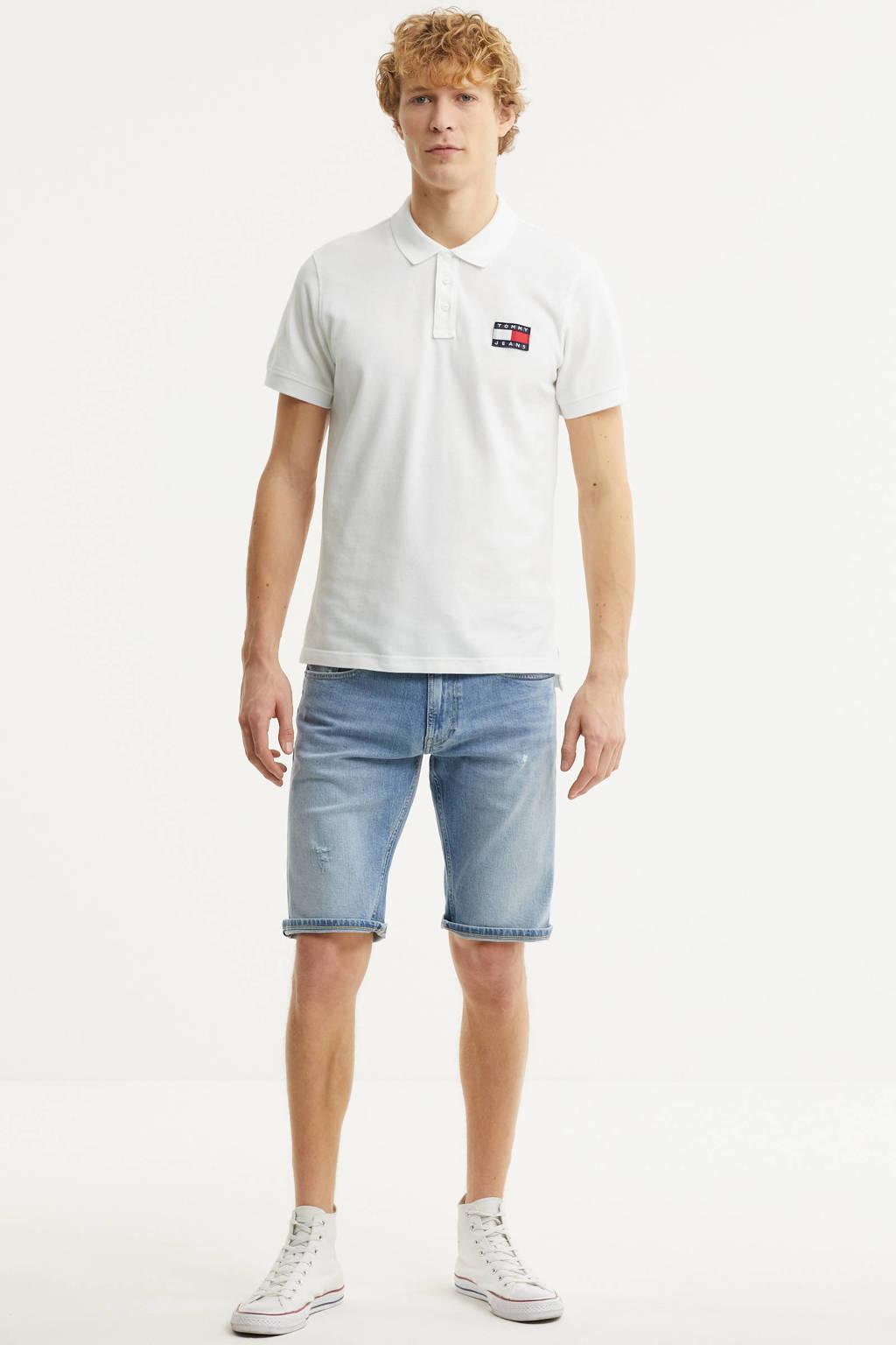 Tommy Jeans regular fit polo van biologisch katoen wit, Wit