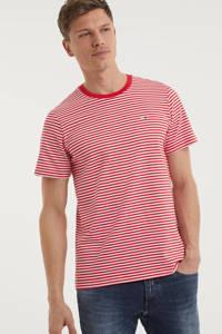 Tommy Jeans gestreept T-shirt van biologisch katoen rood/wit, Rood/wit