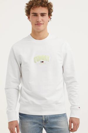 sweater met biologisch katoen wit