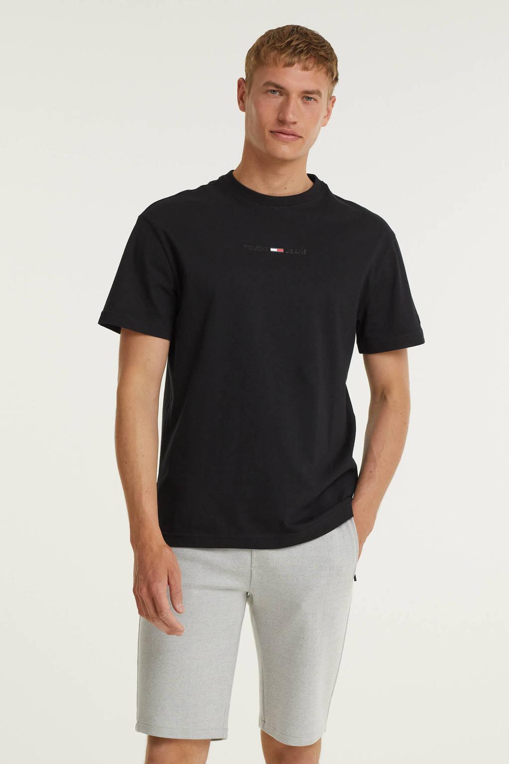 Tommy Jeans T-shirt van biologisch katoen zwart, Zwart
