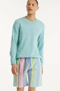 Tommy Jeans hoodie Heather van biologisch katoen lichtblauw, Lichtblauw