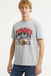 Tommy Jeans T-shirt van biologisch katoen grijs melange, Grijs melange
