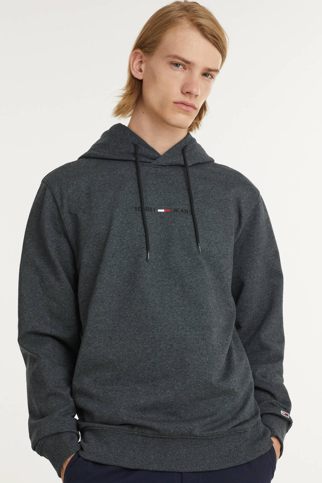 Tommy Jeans sweater met biologisch katoen zwart, Zwart