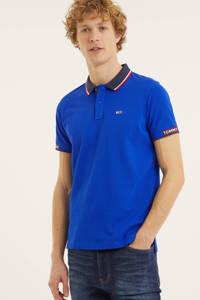 Tommy Jeans regular fit polo van biologisch katoen kobaltblauw, Kobaltblauw