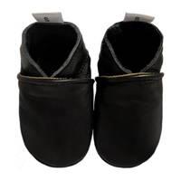 Babysteps leren babyslofjes zwart, Zwart