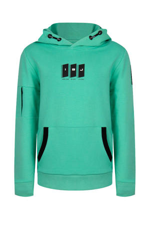 hoodie met logo groen