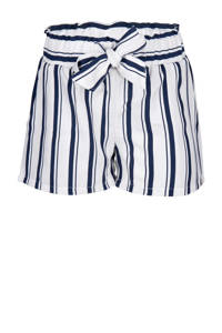 Indian Blue Jeans gestreepte loose fit short blauw/wit, Blauw/wit