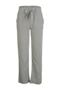 Indian Blue Jeans loose fit broek met all over print zwart/wit, Zwart/wit