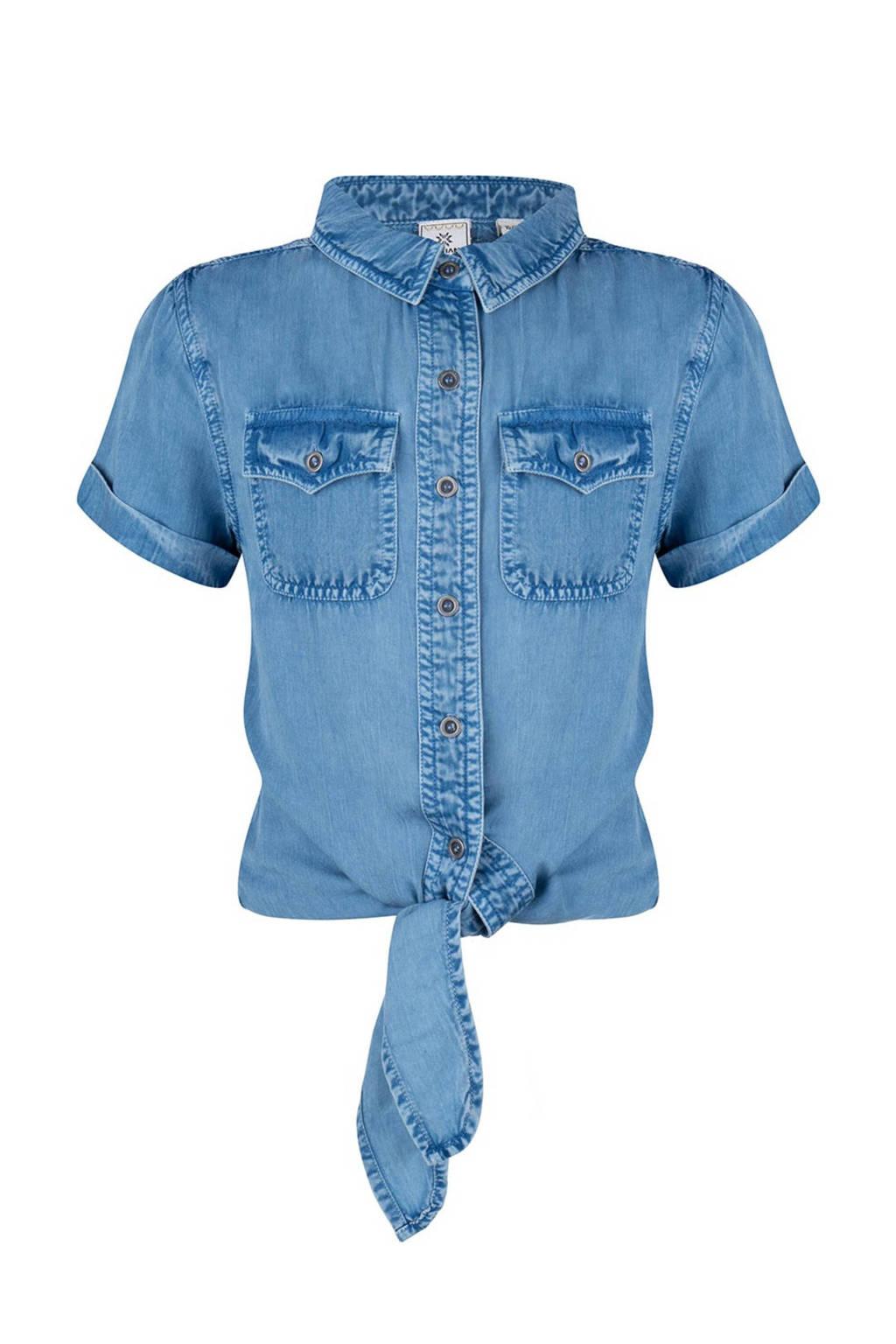 Indian Blue Jeans blouse blauw, Blauw