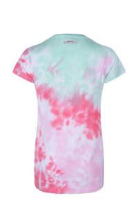 Indian Blue Jeans tie-dye T-shirt roze/mintgroen, Roze/mintgroen