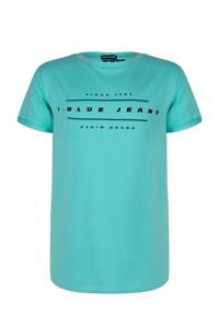 Indian Blue Jeans T-shirt met printopdruk zeegroen, Zeegroen