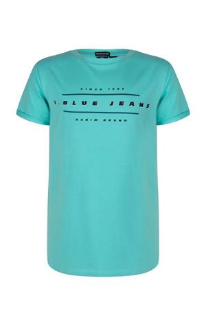 T-shirt met printopdruk zeegroen