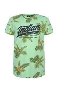 Indian Blue Jeans T-shirt met all over print groen/donkergroen, Groen/donkergroen