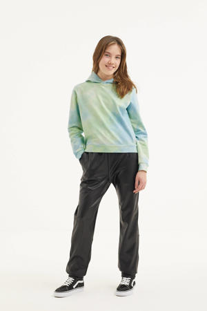 tie-dye hoodie mintgroen/lichtgroen