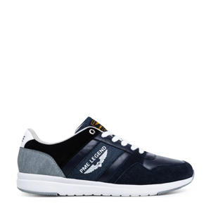 Dragger  suède sneakers donkerblauw