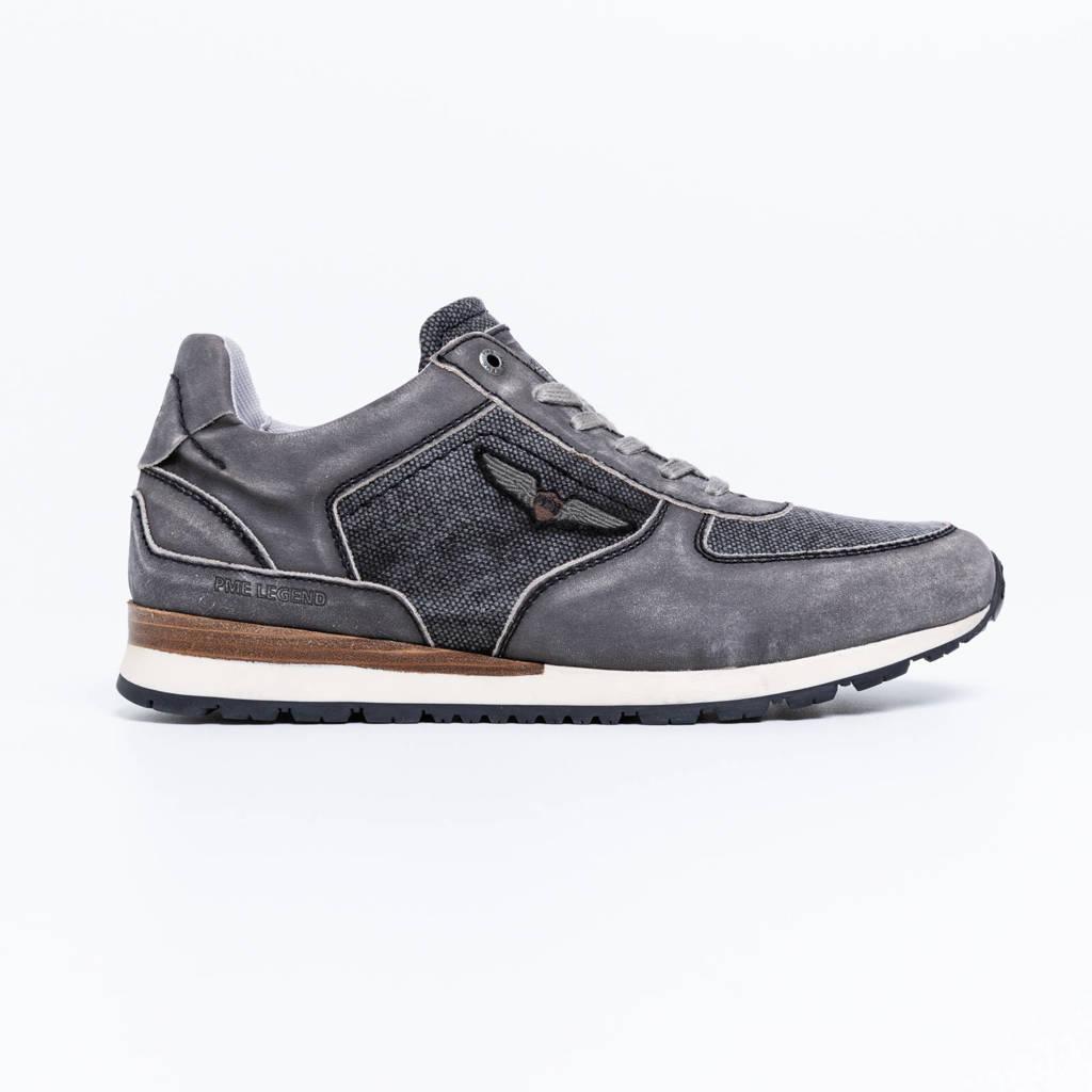 PME Legend Lockplate  nubuck sneakers grijs, Grijs