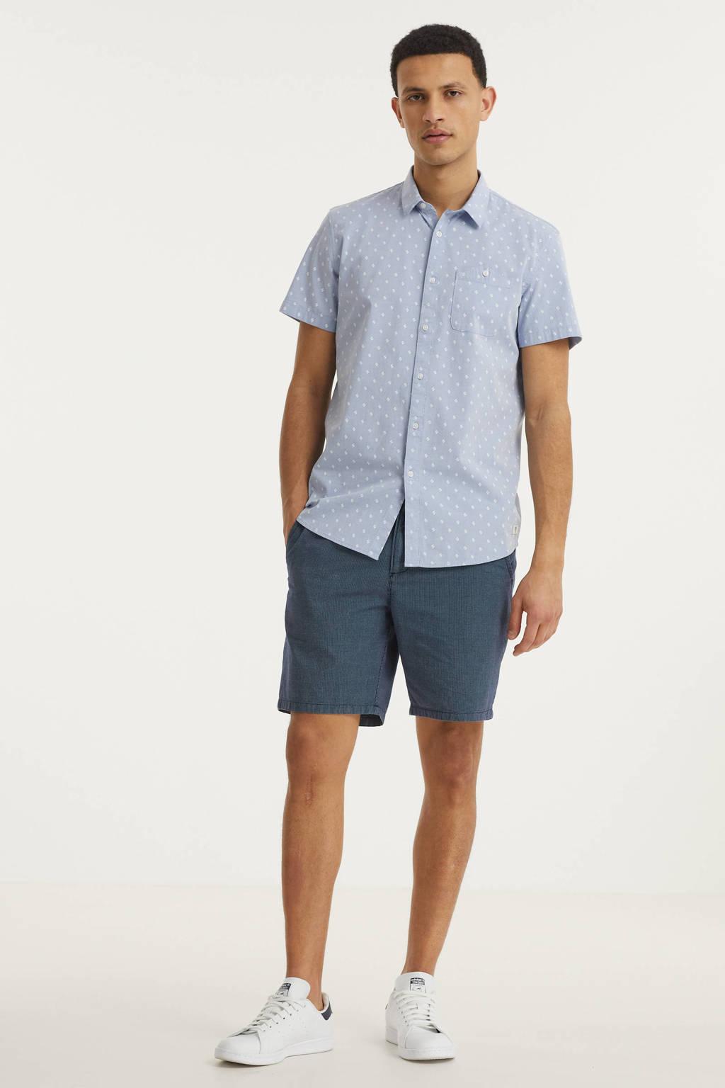 Tom Tailor Denim regular fit overhemd met all over print lichtblauw, Lichtblauw