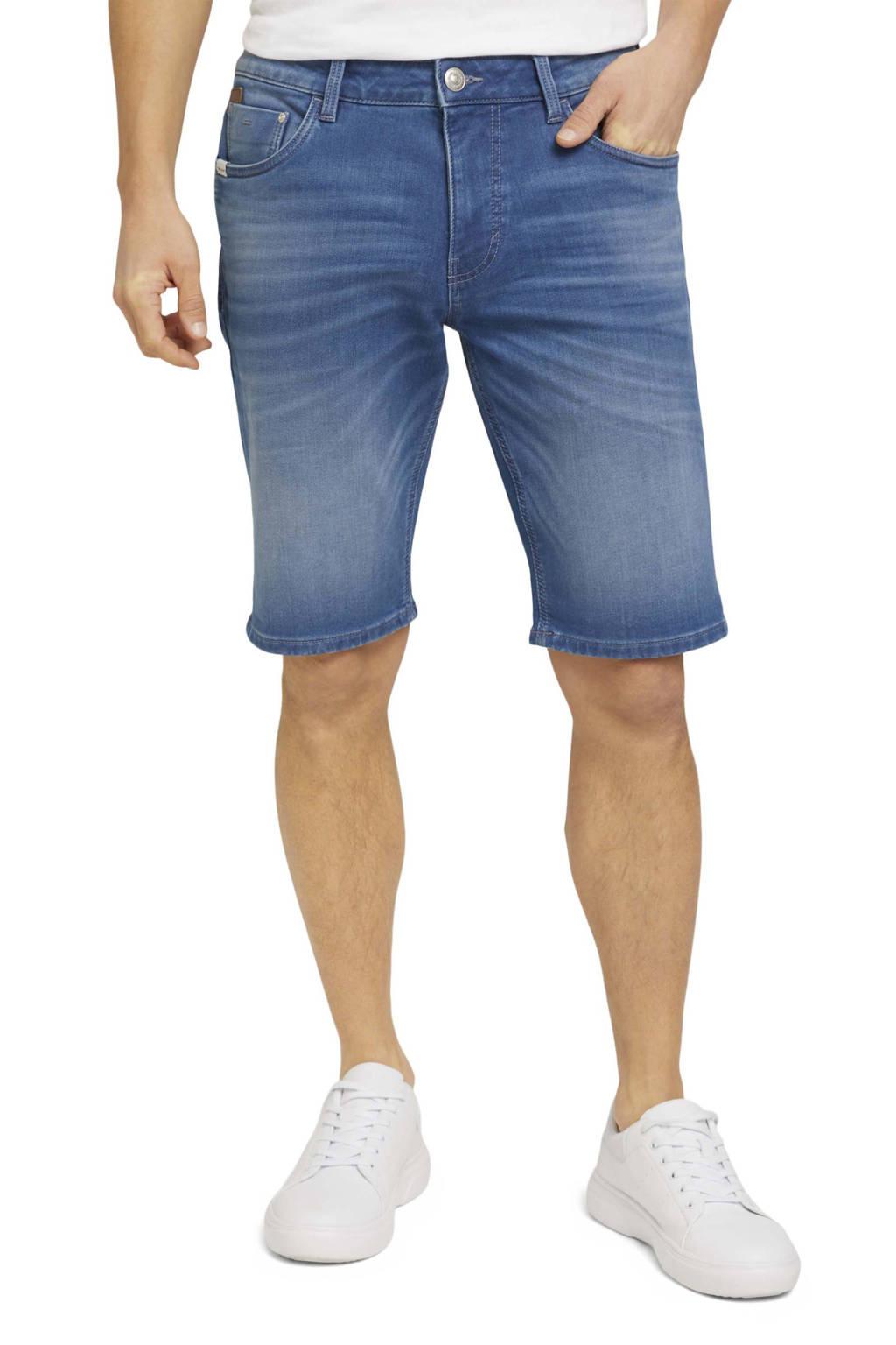 Tom Tailor regular fit jeans short mid stone wash denim, Mid stone wash denim