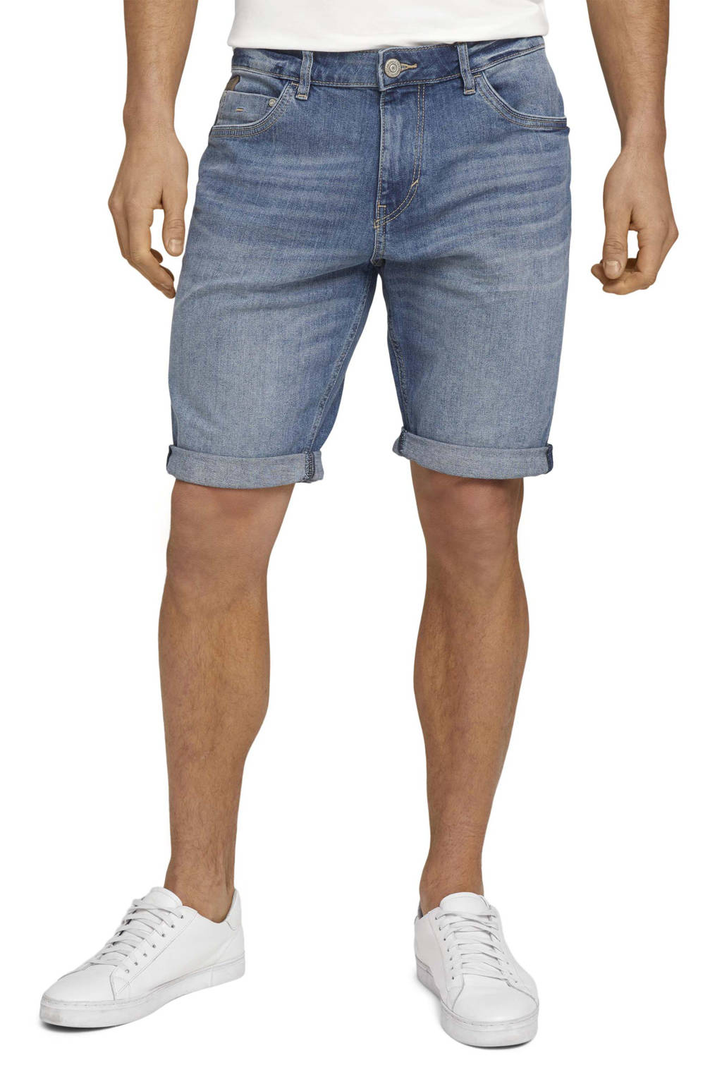Tom Tailor regular fit jeans short mid stone wash