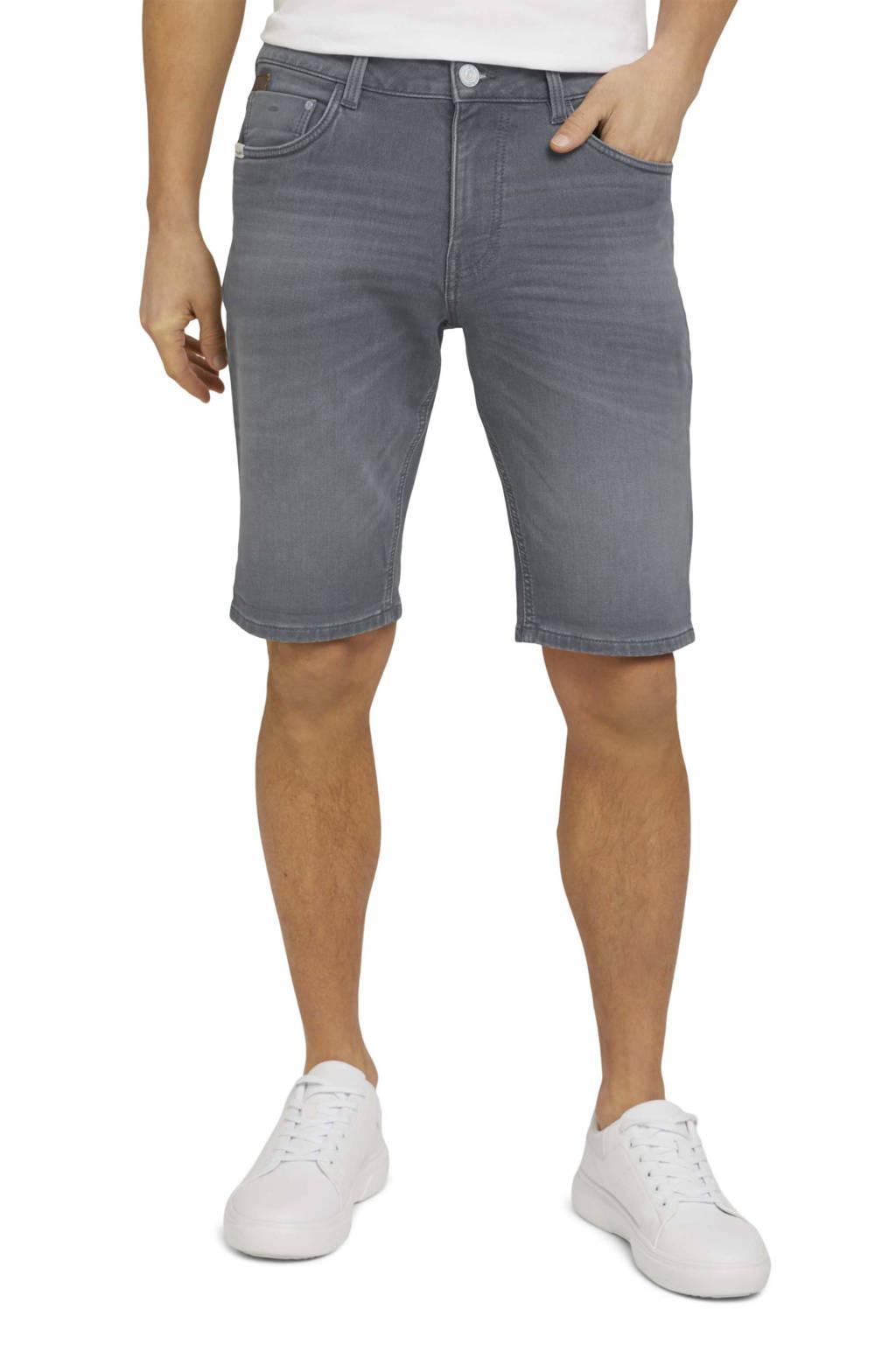 Tom Tailor regular fit jeans short clean light stone