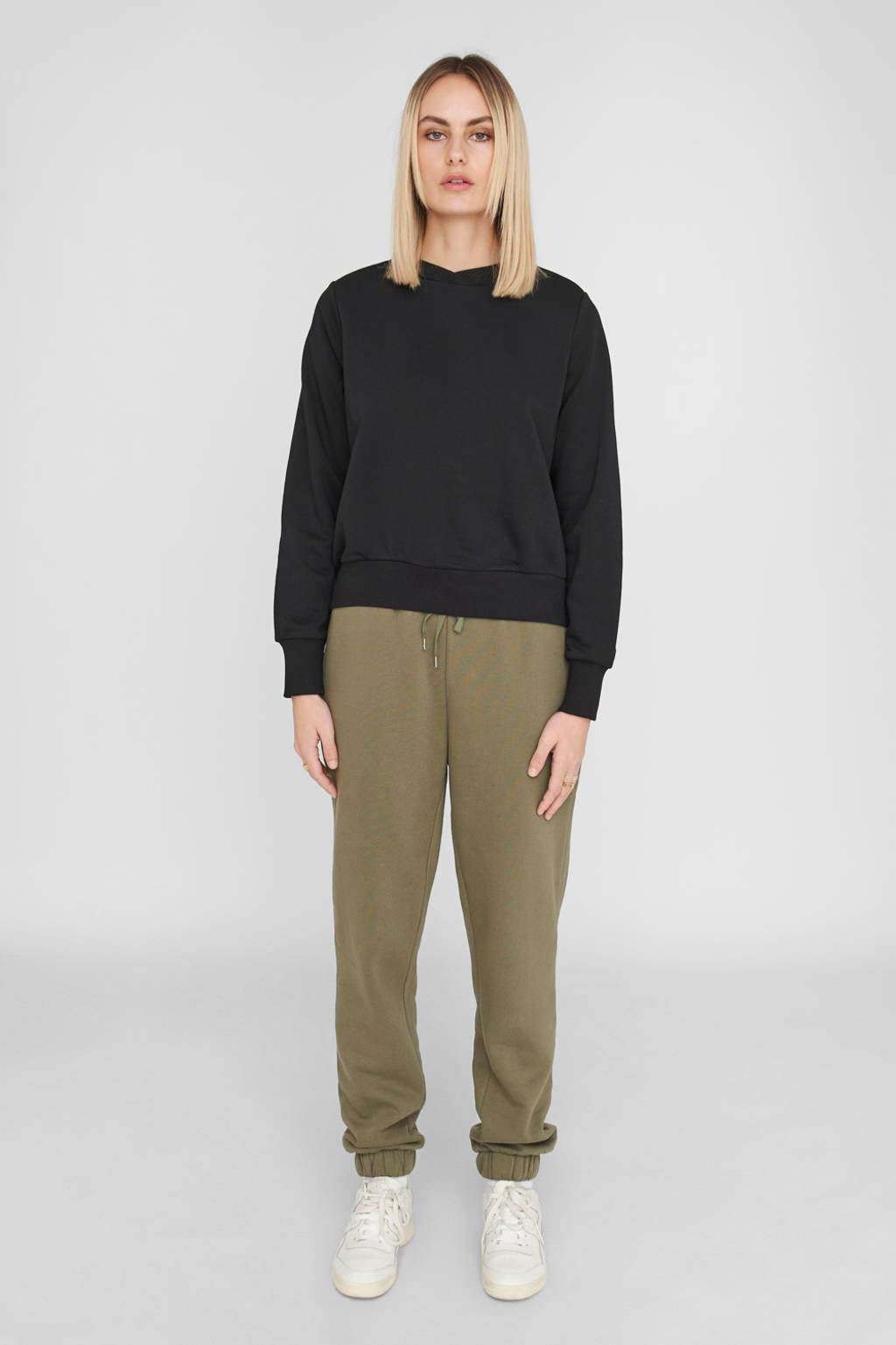 NOISY MAY sweater met biologisch katoen zwart, Zwart
