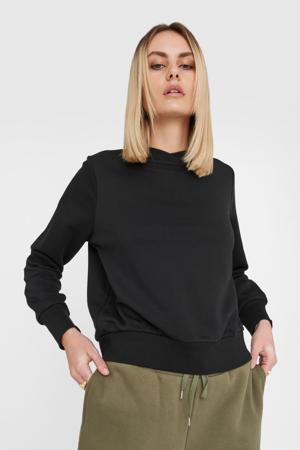 sweater met biologisch katoen zwart