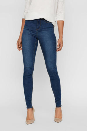 high waist skinny jeans NMCALLIE medium blue denim