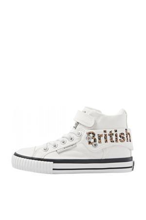 Roco  hoge sneakers met panterprint wit