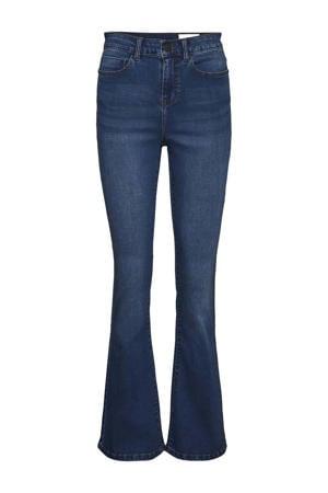 high waist flared jeans NMSALLIE medium blue denim
